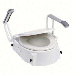 Alza toilette con braccioli e coperchio – dietz 119