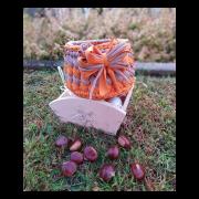 Cestino arancione e nocciola medio